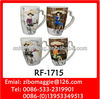 Ceramic Milk Mug & Coffee Mug with Heart Handle for Promotional Mug