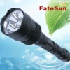 3*XML T6 3800LM powerful Black led flashlight