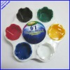 hot selling 7 colors big size plastic color palette