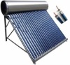 Integrated pressurized solar hot water heater with heat pipe