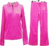 ladies 100% velour jogging suits