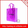 purple laser laminated non woven shopping gift bag