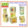 7Pcs Kids Funny Design Wooden Stacking Toys Educational