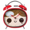 H&3 Red girl jingle cute decoration clock