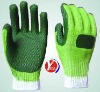 rubber coated gloves with reticulation palm