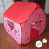 Pink thermal transfer printing house tent play tent