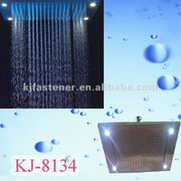 Stainless steel led light rain shower head