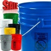 5 gallon HDPE openhead gasketed plastic pails in food grade