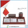 2013 chinese calendar-wood material ,100%factory