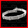 stainless steel rubber bracelet with shinny looking surface