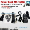 16000mAh High Capacity Portable Power Bank MP-16000 Fit For Laptop,Mobile Phone, PDA, DVD, NDSL, PSP, MP3/MP4