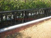 newest modern wrought iron garden border fence