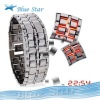 Men's style Red &Blue LED Metal Lava Style Iron Samurai Watch