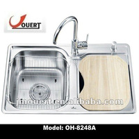 stainless steel sink basin, restaurant water sink topmount sink double bowl sink