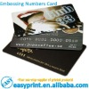 Customized Plastic Cards with Embossing Numbers