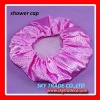 Popular item! PE waterproof lady luxury satin bath shower cap