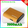 yellow color portable charger 5000mAh power bank