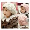 New Multifunction Baby Beret Wool Ball Cap Children Keep Warm Hat Fashion