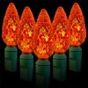 35L Christmas light C6 LED string / orange color