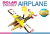 outdoor wooden toys solar power plane