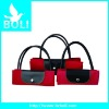 2012 zipper poly handbag tote gift promotional bag lady shoulder bag fashion folding shopping bag(BL52032SB-D)