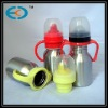 plastic handle metal baby feeding bottle
