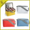 non woven/polyester 6 bottle cooler bag with aluminum foil lining