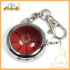 Fashion ball print metal key ring watches with keychain (T00019)