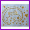 house wall sticker moon star/decorative stickers wall sticker flower sticker