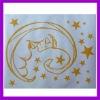 house wall sticker moon star/decorative stickers wall sticker flower sticker