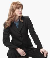 2012 Hot Women Pinstripe Classic Business Suit