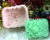 flower shape silicone soap molds making
