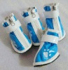 UW-PS-097 Fashionable blue PU dog shoes for pet footwear
