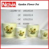 Small Decorative Flower Pots with Sunflower Design