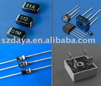 electronic components, diode, transistor, bridge rectifier