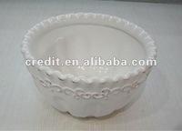 Faux bois Finish Ceramic Bowl