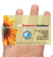 Transparent PVC card ( 8.6*5.4cm)