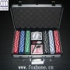 300pcs Poker Set In Silver Aluminium Case W/ Color Box