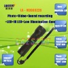 LED Flashlight Audio and Video Recording 2MP HD Digtal Camera PC CAM Low Illumination Cam IR LED Flashlight Camera MDS6822B