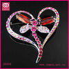 New Fashion Jewelry Heart Design Crystal Brooch