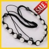 Wholesale price,shamballa necklace with 13pcs white crystal balls beaded discount tresor paris shamballa necklaces