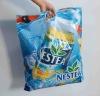 Die Cut Handle bag-European standards blue pe film