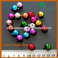 10mm Christmas Pink,Blue,Green,Red,Silver and Gold Jingle Bells