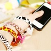Novelty Colorful Bracelet USB Data Cable For iPhone/iPod/iPad
