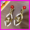 GOLD EARRINGS DESIGN WITH RUBY CZ,GOLD EARRING NEW MODEL 2013,RHINESTONE EARRINGS WHOLESALE JEWELRY