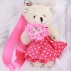 Wedding Plush Bear Mobile Keychain