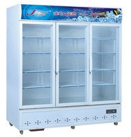 Vertical Single-temperature Three-door Display Freezer