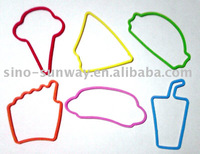 Colorful silicone rubber bands with good design