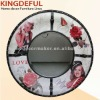 Big Leather Frame Wall decorative mirror