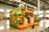 the simluation inflatable manchurian tiger slide